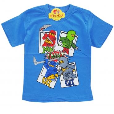 Tricou baieti 3-8 ani, Ninjago, albastru