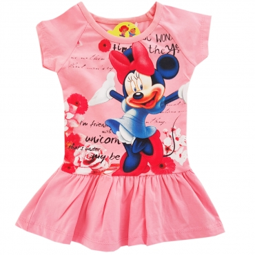 Rochita fetite 9 luni-4 ani, Minnie Mouse, roz