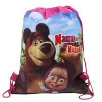 Sac sport copii 36x27 cm, Masha & Ursul