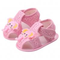 Sandale fetite 0-9 luni, elefant, roz