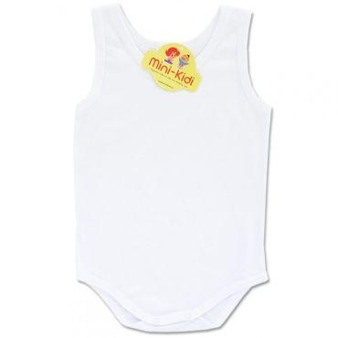 Body maiou alb bebelusi 0-3 ani