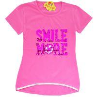 Bluza vara fete 6-14 ani, SMILE MORE, paiete solzi