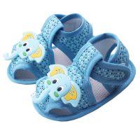 Sandale baieti 0-9 luni, elefant, albastru