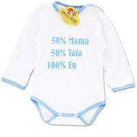 Body mesaj bebelusi 1-12 luni, 50% mama, 50% tata, 100% eu