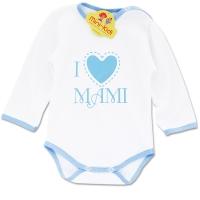 Body bumbac pieptanat bebelusi 0-3 ani, mesaj I love mami