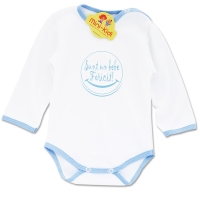 Body bumbac pieptanat bebelusi 0-3 ani, mesaj bebe fericit
