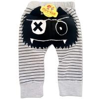 Pantaloni copii 6 luni-2 ani, monstrulet, gri