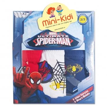 Chiloti baieti 1-5 ani, pachet 3 perechi, Spiderman