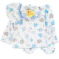 Costumas bebelusi 1-9 luni, 3 piese, elefant