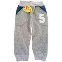 Pantaloni trening copii 2-5 ani, cifre, gri