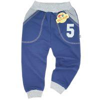Pantaloni trening copii 2-5 ani, cifre, albastru