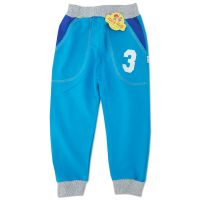Pantaloni trening copii 6 luni-5 ani, cifre, turcoaz