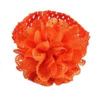 Bentita lata cu floare, fetite 0-5 ani, portocaliu