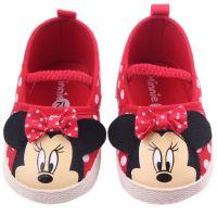 Pantofiori rosii fetite 3-12 luni, Minnie Mouse