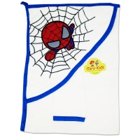 Prosop cu manusa pentru copii Spiderman, 90x82 cm