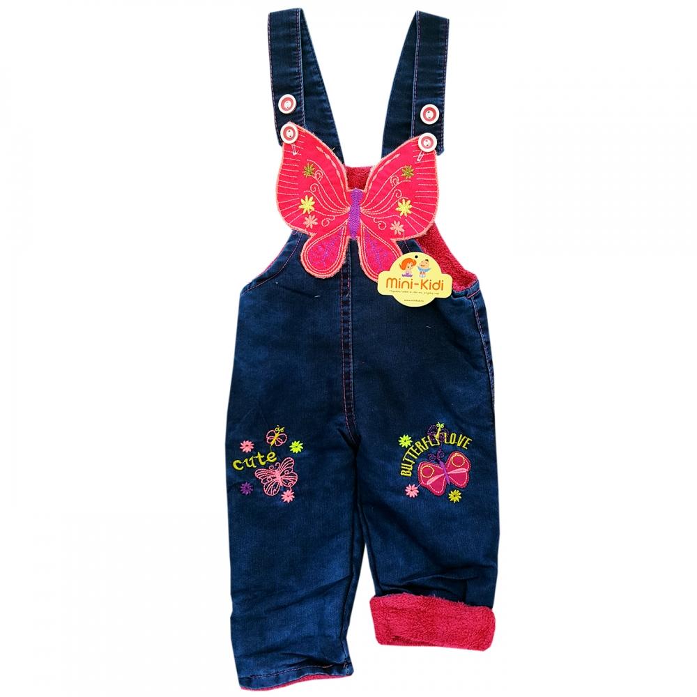 מראה נהדר מחירים נהדרים לקנות Salopeta blug captusit, bebelusi 3-18 luni, fluturas - MiniKidi
