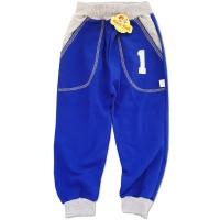 Pantaloni trening copii 6 luni-5 ani, cifre, albastru