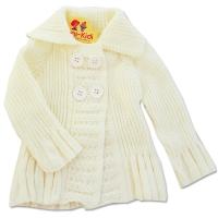 Jacheta tricotata fetite 3-12 luni, crem