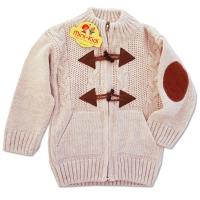Jacheta tricotata copii 9 luni-3 ani, bej