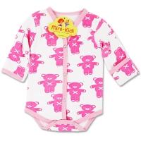 Body grosut nou nascuti 0-1 luni, ursuleti, roz