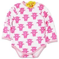 Body grosut bebelusi 0-12 luni, ursuleti, roz