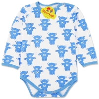 Body bumbac grosut copii 0-3 ani, ursuleti, albastru