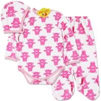 Costumas grosut bebelusi 0-12 luni, ursuleti, roz