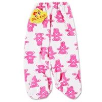 Pantaloni grosuti cu botosei bebelusi 1-12 luni, ursuleti, roz