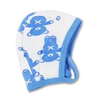 Caciulita grosuta de casa bebelusi 0-3 ani, ursuleti, albastru