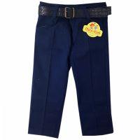 Pantaloni eleganti din tercot copii 9 luni-4 ani, curea inclusa