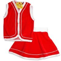 Costum Craciun catifea rosi, fetite 1-12 ani