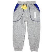 Pantaloni trening copii 6 luni-5 ani, cifre, gri-albastru