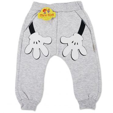 Pantaloni grosi cu turul lasat, copii 9 luni-3 ani, gri