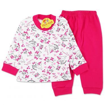 Pijamale bumbac pieptanat fetite 9 luni-7 ani, pisicute