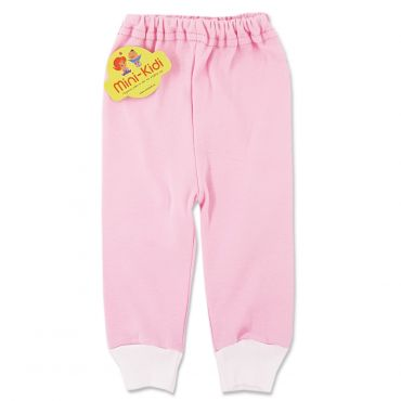 Pantaloni roz din bumbac pieptanat, bebelusi si copii 0-3 ani