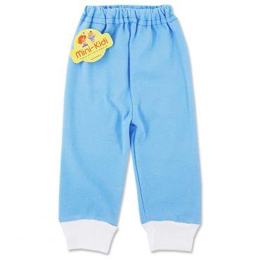 Pantaloni bleu din bumbac pieptanat, bebelusi si copii 0-3 ani