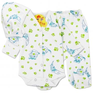 Costumas bumbac grosut nou nascuti 0-1 luni, tigrisori