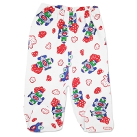 Pantaloni bumbac grosut cu botosei bebelusi 0-12 luni, avioane