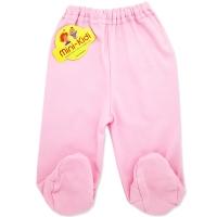 Pantaloni roz cu botosei din bumbac pieptanat bebelusi 0-6 luni