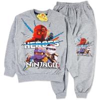 Trening bumbac copii 2-7 ani, NinjaGo, gri