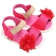 Sandale fetite 0-15 luni, roz