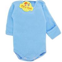 Body bleu bumbac pieptanat, nou nascuti 0-1 luni