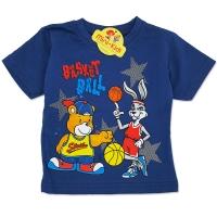 Tricou bumbac copii 9 luni-4 ani, animalute, bleumarin