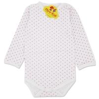 Body bumbac bebe 1-3 ani, buline, roz