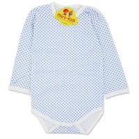 Body bumbac bebe 1-3 ani, buline, bleu