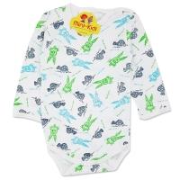 Body bumbac bebe 1-3 ani, broscute si iepurasi