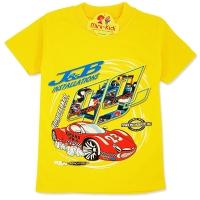 Tricou bumbac copii 3-8 ani, masinuta, galben