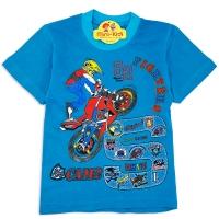 Tricou bumbac copii 3-8 ani, motocicleta