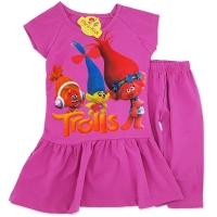 Compleu rochita cu colanti fetite 3-8 ani, troli