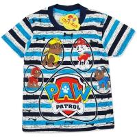 Tricou bumbac copii 3-8 ani, Patrula Catelusilor, dungi
